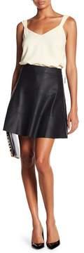 David Lerner Faux Leather Skirt