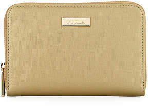 Furla Classic Medium Zip-Around Metallic Wallet