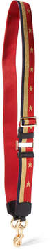 Marc Jacobs Leather-trimmed Metallic Canvas Bag Strap - Red