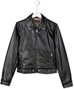 John Richmond Kids Teen studded faux leather jacket