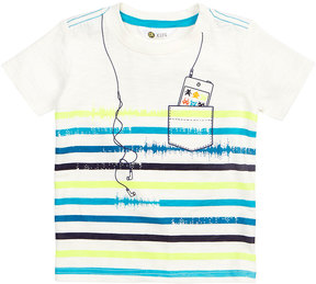 Petit Lem Striped Graphic-Print T-Shirt, Size 2-6X