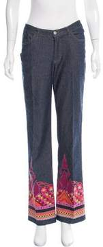 Christian Lacroix Mid-Rise Printed Jeans