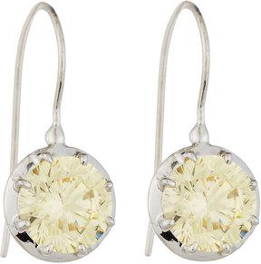 FANTASIA CZ Round-Cut Canary Dangle & Drop Earrings