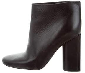 Rochas Leather Round-Toe Booties
