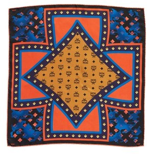 MCM Women's Tarot Camo Print Silk Square Scarf