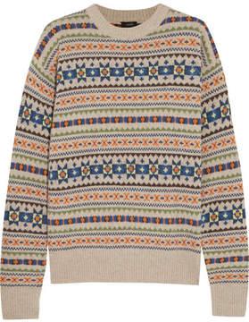 Joseph Layered Fair Isle Wool Sweater - Beige