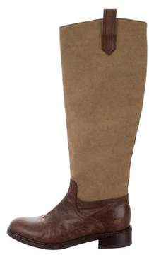 Dries Van Noten Canvas Knee-High Boots
