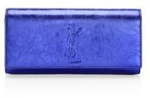 Saint Laurent Kate Leather Clutch - NIGHTBLUE - STYLE