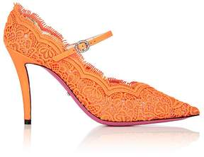 Gucci Women's Virginia Lace Mary Jane Pumps