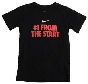 Nike Little Boys' (5-7) #1 From The Start T-Shirt-Black-6