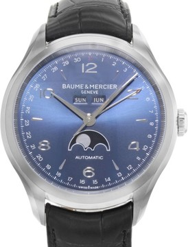 Baume & Mercier Clifton MOA10057 Stainless Steel / Leather with Blue Dial 43mm Mens Watch