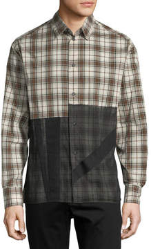 Lanvin Patchwork Plaid Sport Shirt