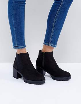 New Look Chunky Track Sole Heeled Ankle Boot