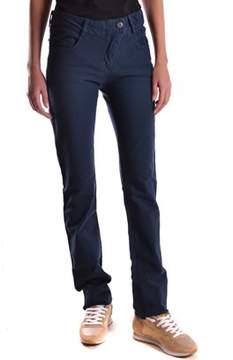 Brema Women's Blue Cotton Pants.