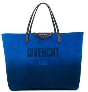 Givenchy Women's Blue Leather Tote.