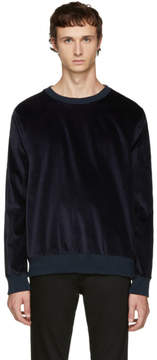Paul Smith Navy Velvet Sweatshirt
