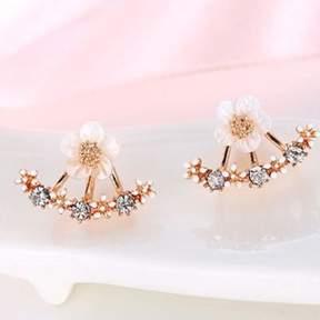 Alpha A Designer Inspired Rose Gold Amaon Jacket Earrings
