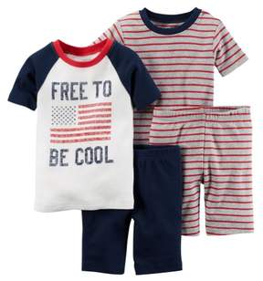 Carter's Baby Clothing Outfit Boys 4-Piece Snug Fit Cotton PJs Free to Be Cool Navy
