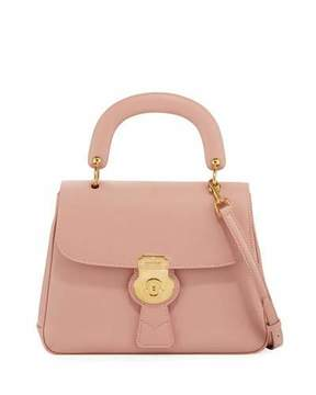 Burberry Trench Large Saffiano Top Handle Bag, Light Pink - LIGHT PINK - STYLE