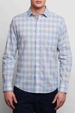 Faherty Ventura Long Sleeve In Blue Coral