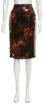 Christian Dior Knee-Length Sequin Skirt
