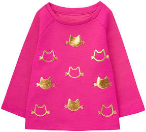 Gymboree Pink Cat Foil-Patch Sweater - Infant, Toddler & Girls