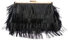 Stella McCartney Oversize Vegan Leather Frame Clutch