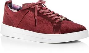Ted Baker Women's Kuleib Velvet & Satin Lace Up Sneakers