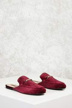 Forever 21 Velvet Slide Loafers