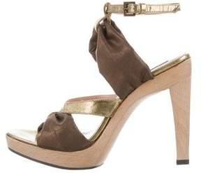 Derek Lam Metallic Round-Toe Sandals