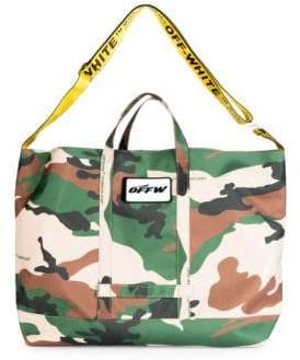Off-White Camouflage Open Tote