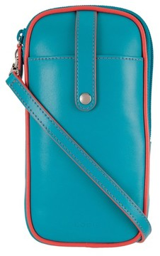 Lodis Mini Audrey Blossom Leather Crossbody Bag - Blue/green
