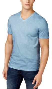 Michael Kors Melange Cotton Basic T-Shirt Blue 2XL