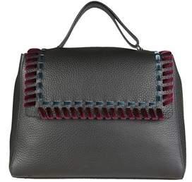 Orciani Women's Black Leather Shoulder Bag.