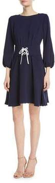 Shoshanna Tomi Lace-Up Mini Dress