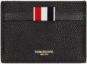 Thom Browne Black Diagonal Stripe Single Card Holder