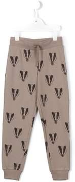 Mini Rodini badger print track bottoms