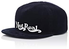 Off-White Men's Not Real Cotton-Blend Velvet Baseball Cap