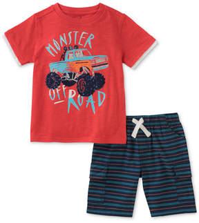 Kids Headquarters 2-Pc. Graphic-Print T-Shirt & Shorts Set, Baby Boys