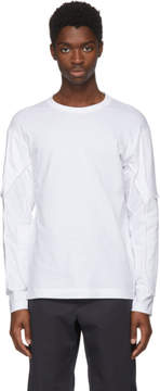 Comme des Garcons White Long Sleeve Padding T-Shirt