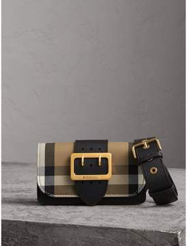 Burberry The Small Buckle Bag in House Check and Leather
