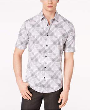 Alfani Men's Geo Line-Print Shirt, Created for Macy's