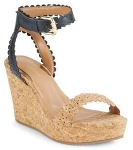 Saks Fifth Avenue Valora Leather Wedge Platform Sandals