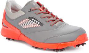 Ecco Black & Scarlet Base One Volta Leather Golf Shoe - Men