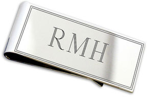 Asstd National Brand Sterling Silver Engravable Money Clip