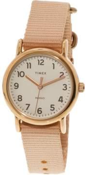 Timex Women's Weekender 31 TW2R59900 Gold Nylon Analog Quartz Fashion Watch
