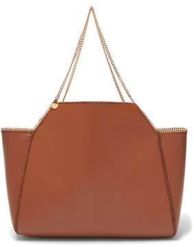 Stella McCartney Falabella Reversible Faux Leather Tote - Womens - Tan