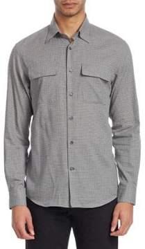 Ralph Lauren Purple Label Checked Button-Front Shirt