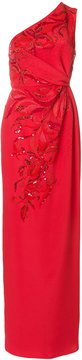 Emilio Pucci sequin-embellished gathered column gown