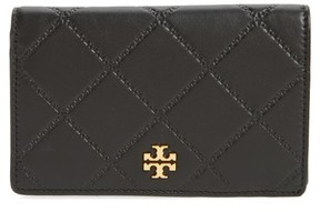 Tory Burch Women's Medium Georgia Slim Leather Wallet - Black - BLACK - STYLE